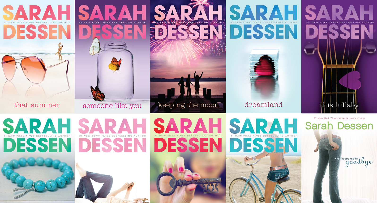 ya, sarah dessen, book covers, capas, young adult