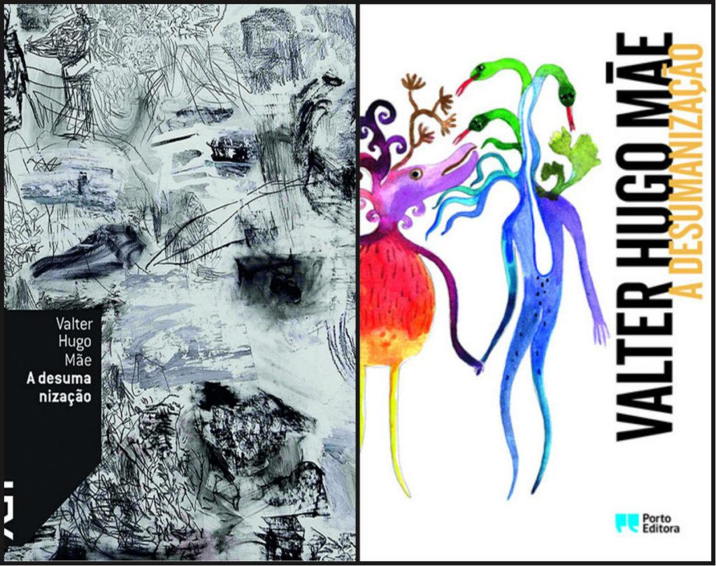 As capas brasileira e portuguesa do livro