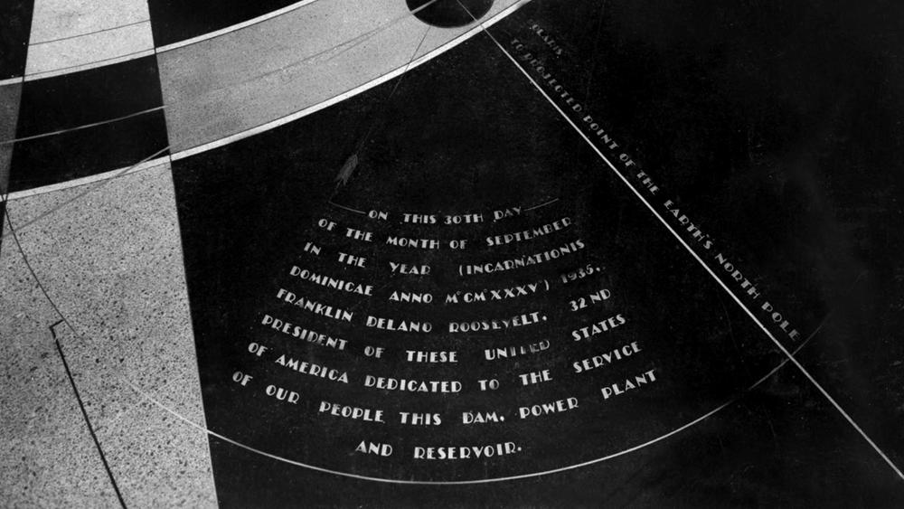 O mapa estelar na Represa Hoover. (Reclamation Photograph Database, 1935)